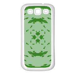 Green Hole Samsung Galaxy S3 Back Case (white)
