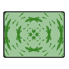 Green Hole Double Sided Fleece Blanket (small)  by Alisyart