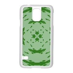 Green Hole Samsung Galaxy S5 Case (white)
