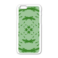 Green Hole Apple Iphone 6/6s White Enamel Case by Alisyart