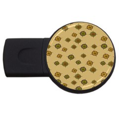 Compass Circle Brown Usb Flash Drive Round (4 Gb)