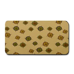 Compass Circle Brown Medium Bar Mats by Alisyart