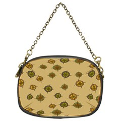 Compass Circle Brown Chain Purses (one Side)  by Alisyart