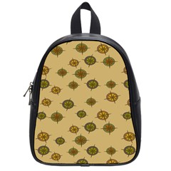 Compass Circle Brown School Bags (small)  by Alisyart