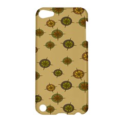 Compass Circle Brown Apple Ipod Touch 5 Hardshell Case by Alisyart