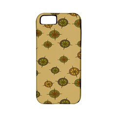 Compass Circle Brown Apple Iphone 5 Classic Hardshell Case (pc+silicone) by Alisyart