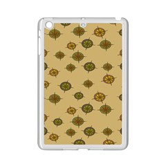 Compass Circle Brown Ipad Mini 2 Enamel Coated Cases