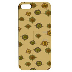 Compass Circle Brown Apple Iphone 5 Hardshell Case With Stand by Alisyart