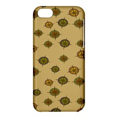 Compass Circle Brown Apple Iphone 5c Hardshell Case by Alisyart