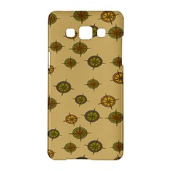 Compass Circle Brown Samsung Galaxy A5 Hardshell Case  by Alisyart