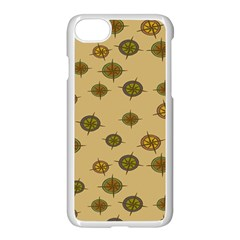 Compass Circle Brown Apple Iphone 7 Seamless Case (white) by Alisyart
