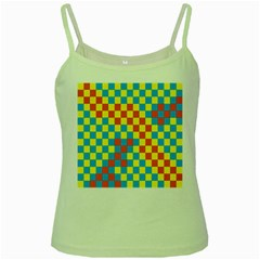 Optical Illusions Plaid Line Yellow Blue Red Flag Green Spaghetti Tank by Alisyart