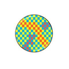 Optical Illusions Plaid Line Yellow Blue Red Flag Hat Clip Ball Marker by Alisyart