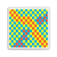 Optical Illusions Plaid Line Yellow Blue Red Flag Memory Card Reader (square)  by Alisyart