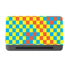 Optical Illusions Plaid Line Yellow Blue Red Flag Memory Card Reader With Cf by Alisyart