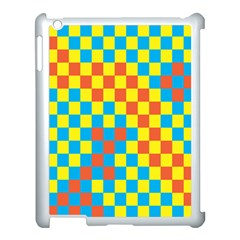 Optical Illusions Plaid Line Yellow Blue Red Flag Apple Ipad 3/4 Case (white)