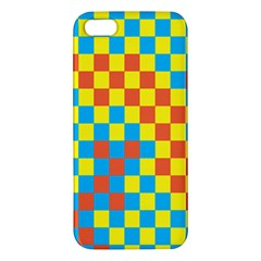 Optical Illusions Plaid Line Yellow Blue Red Flag Apple Iphone 5 Premium Hardshell Case