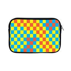 Optical Illusions Plaid Line Yellow Blue Red Flag Apple Ipad Mini Zipper Cases