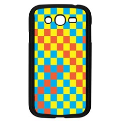 Optical Illusions Plaid Line Yellow Blue Red Flag Samsung Galaxy Grand Duos I9082 Case (black) by Alisyart