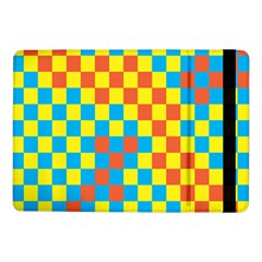 Optical Illusions Plaid Line Yellow Blue Red Flag Samsung Galaxy Tab Pro 10 1  Flip Case by Alisyart