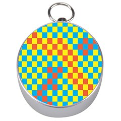 Optical Illusions Plaid Line Yellow Blue Red Flag Silver Compasses by Alisyart