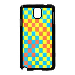 Optical Illusions Plaid Line Yellow Blue Red Flag Samsung Galaxy Note 3 Neo Hardshell Case (black)