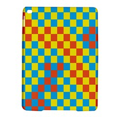Optical Illusions Plaid Line Yellow Blue Red Flag Ipad Air 2 Hardshell Cases by Alisyart