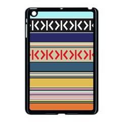 Original Code Rainbow Color Chevron Wave Line Apple Ipad Mini Case (black) by Alisyart