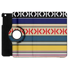 Original Code Rainbow Color Chevron Wave Line Apple Ipad Mini Flip 360 Case by Alisyart