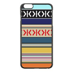 Original Code Rainbow Color Chevron Wave Line Apple Iphone 6 Plus/6s Plus Black Enamel Case by Alisyart