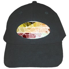 Geometric Mosaic Line Rainbow Black Cap by Alisyart