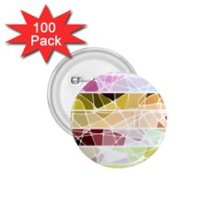 Geometric Mosaic Line Rainbow 1 75  Buttons (100 Pack)  by Alisyart