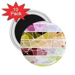 Geometric Mosaic Line Rainbow 2 25  Magnets (10 Pack)  by Alisyart