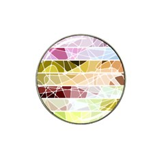 Geometric Mosaic Line Rainbow Hat Clip Ball Marker (4 Pack) by Alisyart