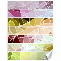 Geometric Mosaic Line Rainbow Canvas 18  X 24   by Alisyart