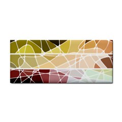 Geometric Mosaic Line Rainbow Cosmetic Storage Cases by Alisyart