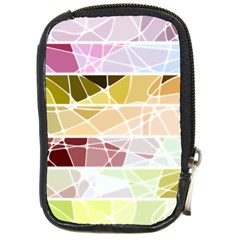 Geometric Mosaic Line Rainbow Compact Camera Cases by Alisyart