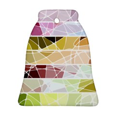 Geometric Mosaic Line Rainbow Bell Ornament (two Sides) by Alisyart