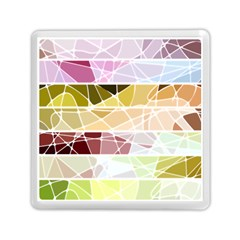 Geometric Mosaic Line Rainbow Memory Card Reader (square)  by Alisyart