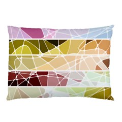 Geometric Mosaic Line Rainbow Pillow Case (two Sides) by Alisyart