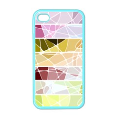 Geometric Mosaic Line Rainbow Apple Iphone 4 Case (color) by Alisyart