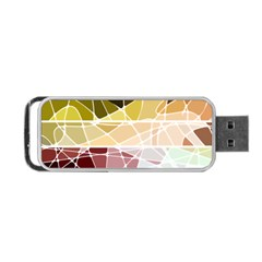 Geometric Mosaic Line Rainbow Portable Usb Flash (two Sides)