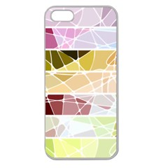 Geometric Mosaic Line Rainbow Apple Seamless Iphone 5 Case (clear) by Alisyart
