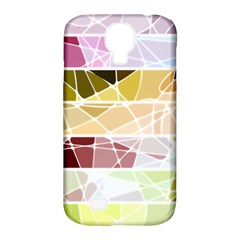 Geometric Mosaic Line Rainbow Samsung Galaxy S4 Classic Hardshell Case (pc+silicone) by Alisyart
