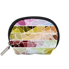 Geometric Mosaic Line Rainbow Accessory Pouches (small)  by Alisyart