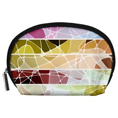 Geometric Mosaic Line Rainbow Accessory Pouches (large)  by Alisyart