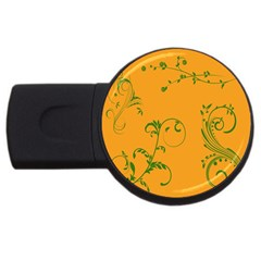 Nature Leaf Green Orange Usb Flash Drive Round (2 Gb) by Alisyart