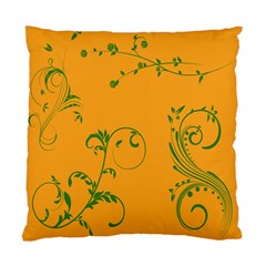 Nature Leaf Green Orange Standard Cushion Case (two Sides) by Alisyart