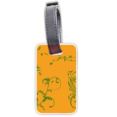 Nature Leaf Green Orange Luggage Tags (one Side)  by Alisyart