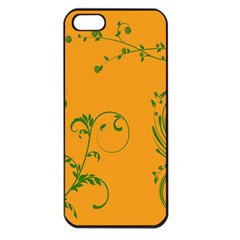 Nature Leaf Green Orange Apple Iphone 5 Seamless Case (black) by Alisyart